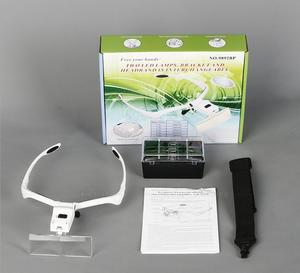 Image 5 - 1.0X 1.5X 2X 2.5X 3.5X Led Verlichte Portable Goggle Glazen Stijl Reading Reparatie Vergrootglas Loupe Medisch Vergrootglas