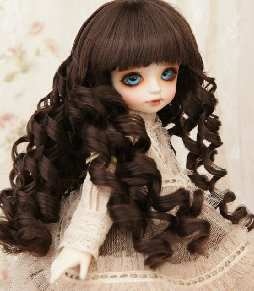 2018 Free Shipping 1/3 1/4 1/6 Fashion Style Bjd SD Doll Wig High Temperature Wire Lovely Beautiful Big Wavy For BJD Hair Wig free shipping newest 1 3 1 4 1 6 bjd wig high temperature long wire bjd wig msd sd yosd for bjd doll