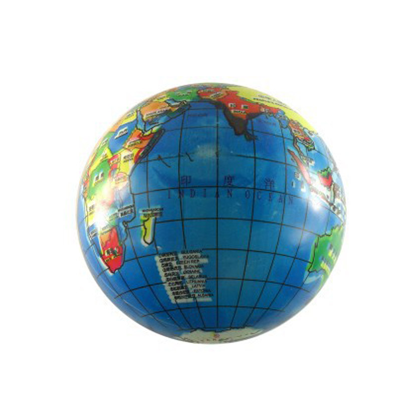 Inflatable Globe World Map. 10pcs lot free shipping Inflatable Ball Cartoon globe ball inflatable toys  Kid Toy Balls World Map Air Balloon children in from Toys