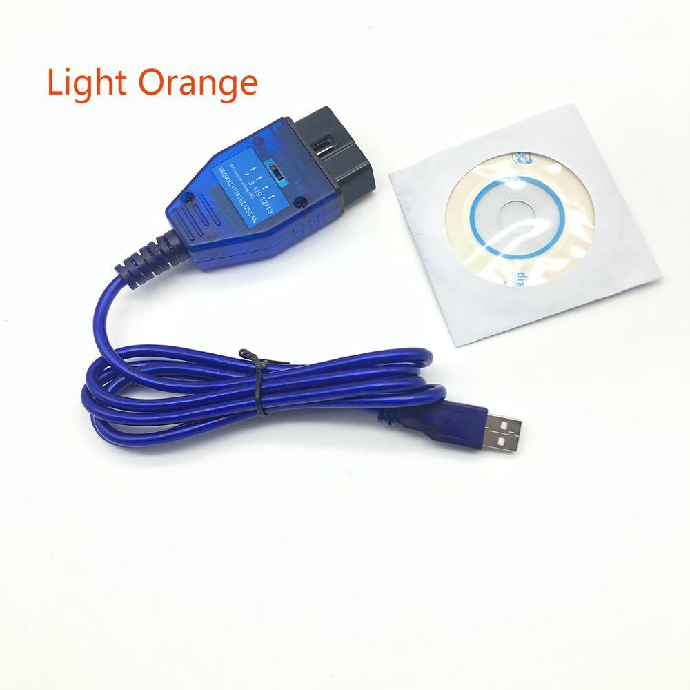 Free Shipping FT232RL Chip USB Cable KKL VAG COM 409 1 OBD2