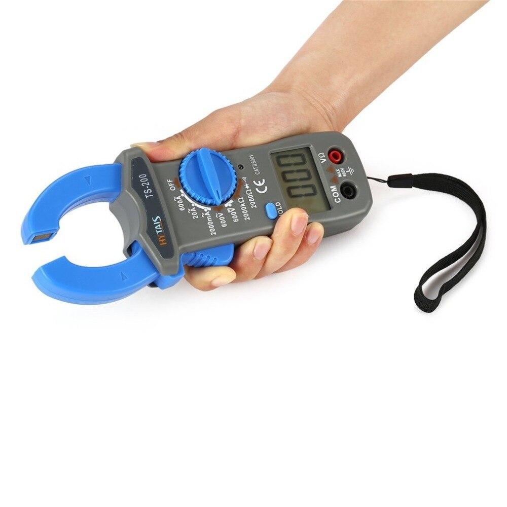 TS200 Digital Clamp Meter Multimeter AC/DC Tester Voltage Current Resistance Test Clampmeter 600A 600V Voltmeter Multimetro|Clamp Meters|   - title=