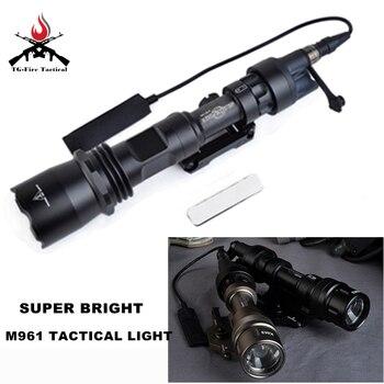 Элемент тактический страйкбол свет M961 LED Зрительная труба винтовочный фонарь страйкбол Arma давление Охота лампе фонарик для оружия