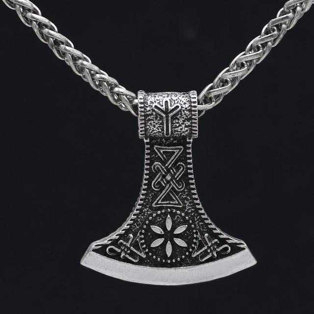 Viking mammen odin symbol rune horror peru necklace colo axe pendant viking mammen odin symbol rune horror peru necklace colo axe pendant necklace metal chain nordic talisman aloadofball Gallery