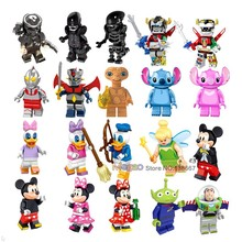 Alien vs Predator Super Hero figures Voltron Mazinger Z Iron Man Ultraman Mickey Minnie Mouse Donald Duck Building Block toys(China)