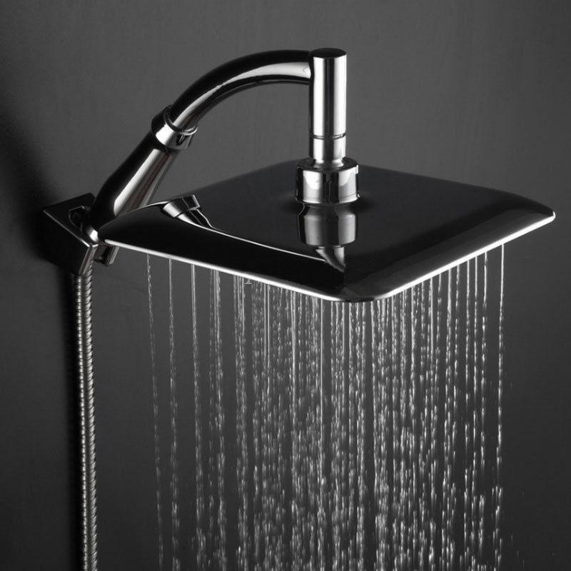 9 Stainless Steel Square Shower Head Over-head Shower Sprayer Rainfall Wall Mount Shower Head Bathroom Accessories MAYITR