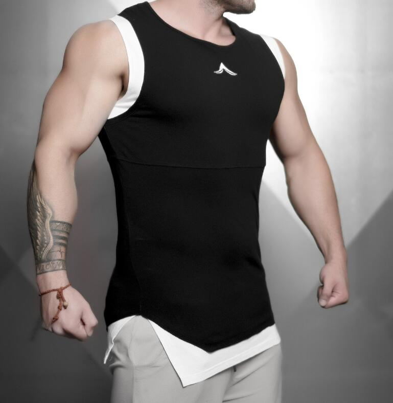 2018 New Mens Sleeveless   Tank     Tops   Summer Male   Tank     Top   Gyms Clothing Bodybuilding Undershirt Sportswear Fitness   Tank     Tops