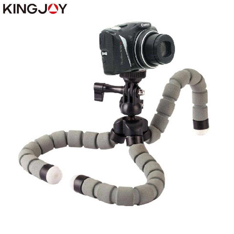 Suporte para Câmera do Telefone Kingjoy Oficial Parágrafo Movil Kt 600s Mini Polvo Tripé Flexível Móvel Celular Smartphone Gopro Suporte
