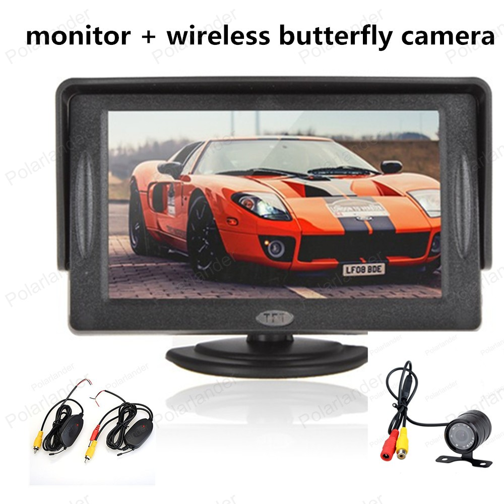 480x234 Rear View Monitor 4.3 Inch TFT LCD Color Display Pocket-sized Rear View Monitor with 2-channel Video Input