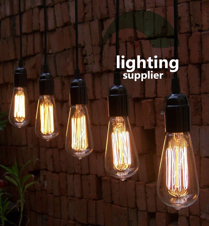 Retro Gloeilamp Vintage Wolfraam Licht Voor Lamp St64 T58 Handgemaakte Edison Gloeilamp E27/220 V/40 W Bollen Hanglamp Houder Aromatisch Karakter En Aangename Smaak