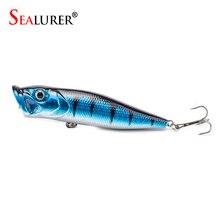 Sealurer Brand Topwater Popper Lure 9CM 13G Treble Hooks Fishing Plastic Floating Wobbler Artificial Hard Bait