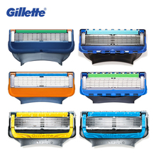 купить Original Gillette Fusion Proshield 5 Layer Manual Shaver Razor Blade for Men FlexBall Brand Razor Spare Parts Safety Razor по цене 329.33 рублей