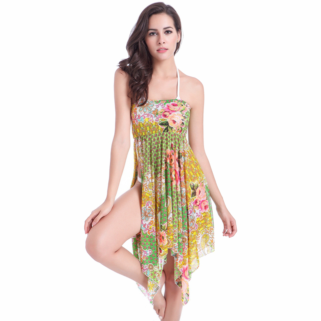 5146d19224e1a US $12.35 |summer beach long cover up wet transparent swimwear white beach  dress sex girl's swimsuit to cover teens in skimpy bikinis for w-in ...