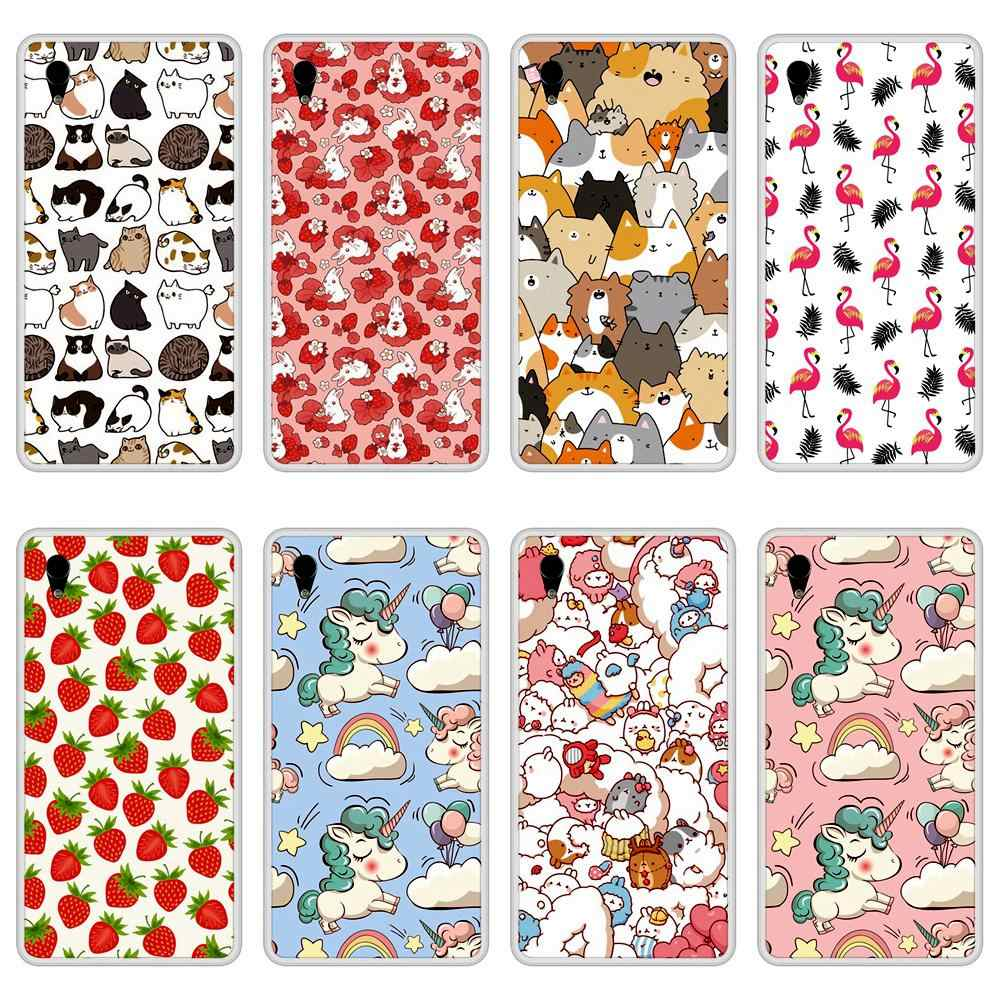 Case For Sony Xperia M4 Aqua Soft Silicone TPU Cute Patterned Paint Phone Cover For Sony Xperia M4 Aqua Case Cover