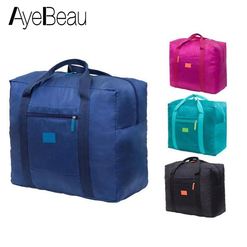Foldable Cabin Nylon Big For Overnight Voyage Weekend Duffel Hand Luggage Duffle Men Women Travel Bag Female Male Large Handbag