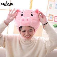 Funny Hat Headdress Pig-Face Animal Cartoon Festival-Wear Pink Girl Women Family Kawaii