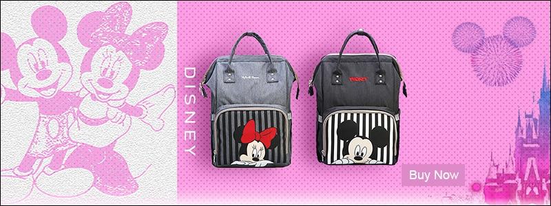 HTB1uqtXaAT2gK0jSZPcq6AKkpXaA Disney Minnie Mickey Classic Red Diaper Bags 2PCS/SET Mummy Maternity Backpack Nappy Bag Large Capacity Baby Bag Travel 3D Doll