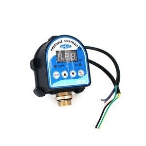 """Image 2 - Dijital Basınç Kontrol Anahtarı WPC 10 dijital ekran WPC 10 Elektronik Basınç Kontrolörü Ile Su Pompası için G1/2 """"Adaptörü"""