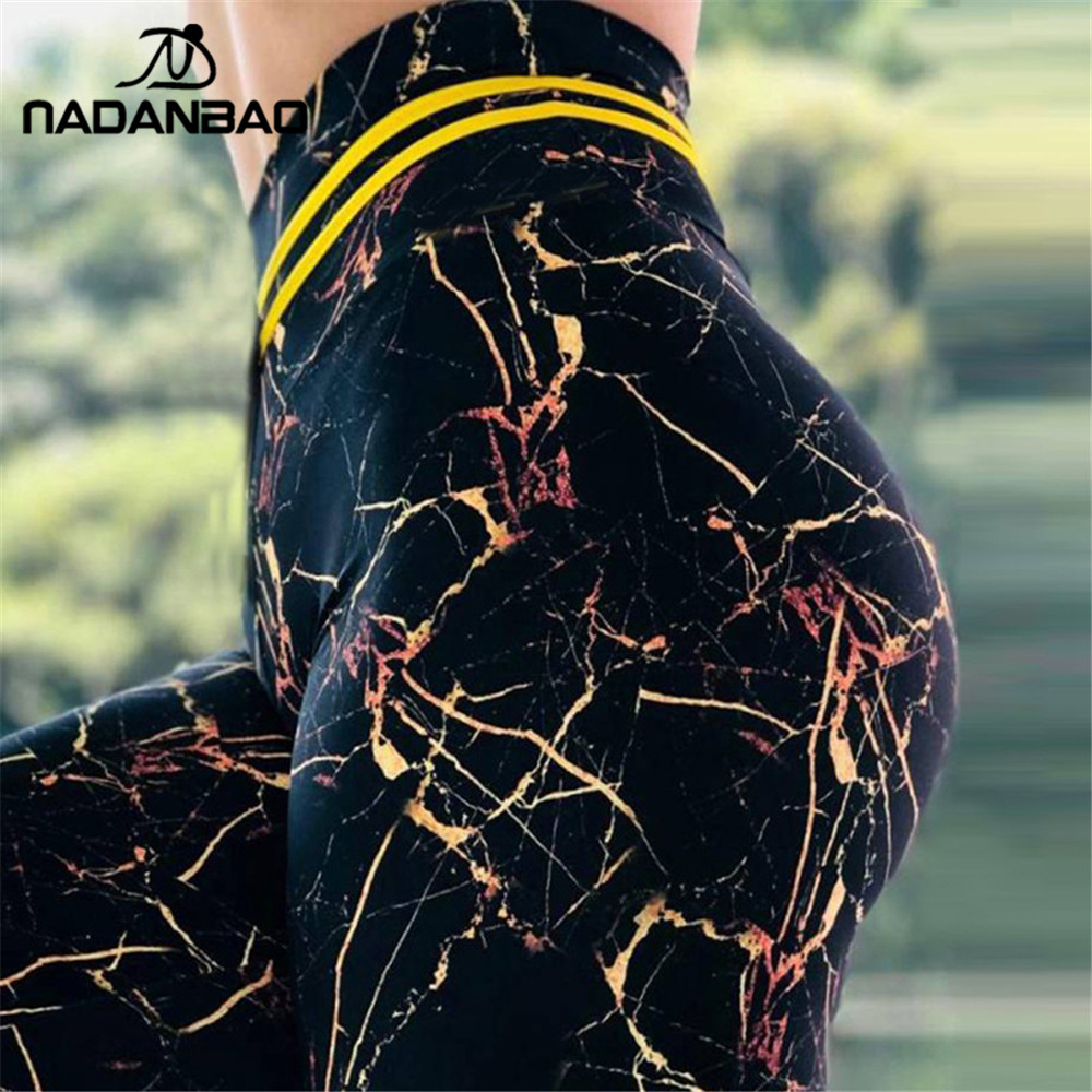 NADANBAO Sexy Push Up High Waist Women   Leggings   marble Sporting Fitness   legging   plus size legins for woman Pants
