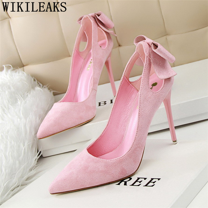 Butterfly-Knot <font><b>extreme</b></font> <font><b>high</b></font> <font><b>heels</b></font> <font><b>sexy</b></font> pumps women <font><b>shoes</b></font> <font><b>fetish</b></font> <font><b>high</b></font> <font><b>heels</b></font> bigtree <font><b>shoes</b></font> luxury <font><b>shoes</b></font> women designers tacones image