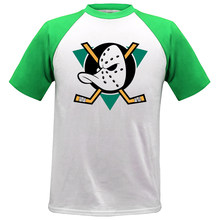 2a7d2d959 Mighty Ducks of Anaheim NHL League hombre raglan 100% algodón camiseta  marca hombre top camisetas