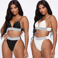 Hot Hot Sequin Bikinis 2019 Mujer Glitter Bikini Push Up Reflective Swimsuit Separate May Swimwear Female Women's Swimming Suit