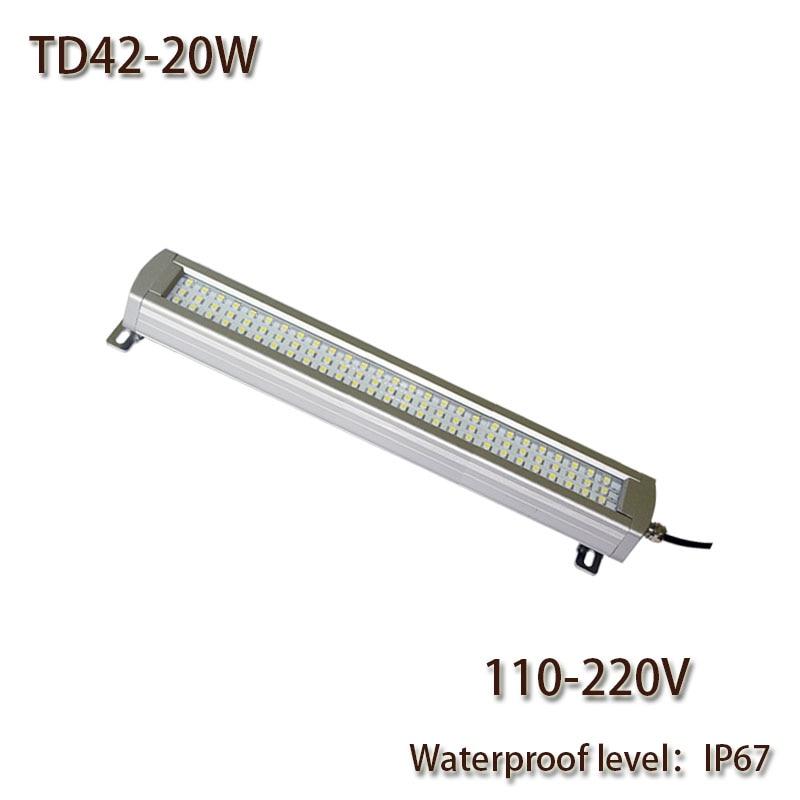 HNTD 20W AC 110V/220V LED Work Light Explosion-proof Waterproof IP67 TD42 Led Panel Light CNC Machine Tool lighting Freeshipping
