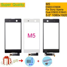 Touchscreen For Sony Xperia M5 E5603 E5606 E5653 Touch Screen Digitizer Front Glass Panel Sensor Lens DUAL E5633 E5643 E5663