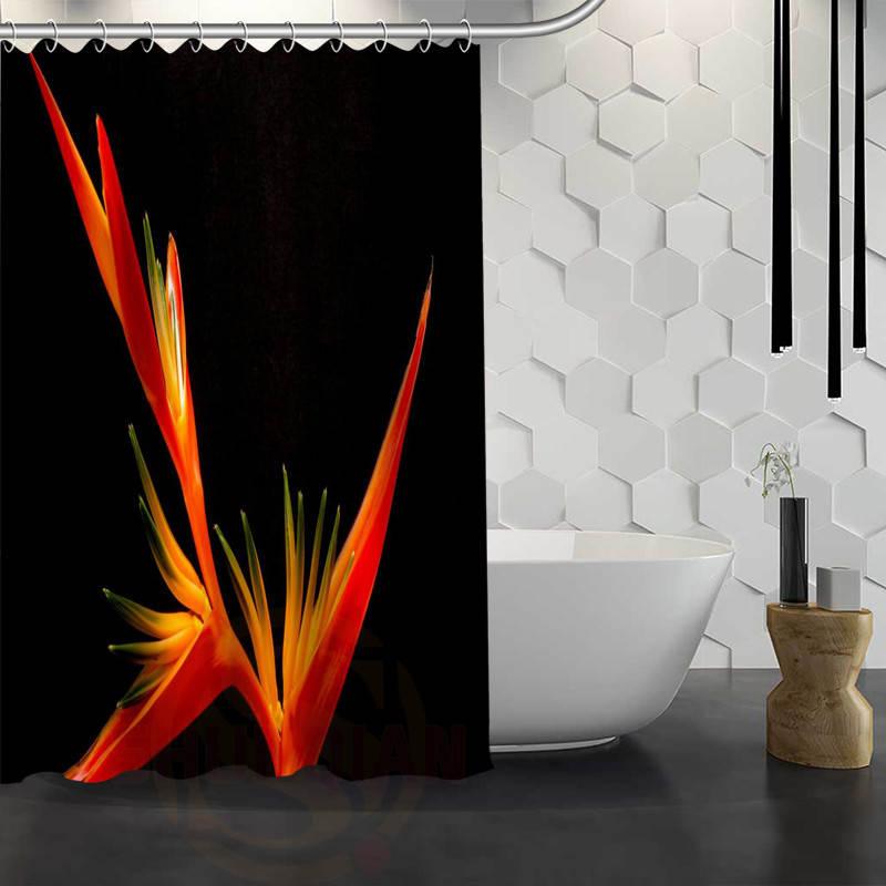 Nanaz Hot Sale Custom Bird Of Paradise Flower Shower Curtain Waterproof Fabric Bath For Bathroom In Curtains From Home Garden On