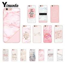 Yinuoda Pink Marble Pretty TPU Soft Silicone Phone Case for iPhone 8 7 6 6S Plus X XS MAX 5 5S SE XR 10 Cases(China)