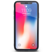 QIALINO Genuine Leather with Silicone Edge Case for iPhone X