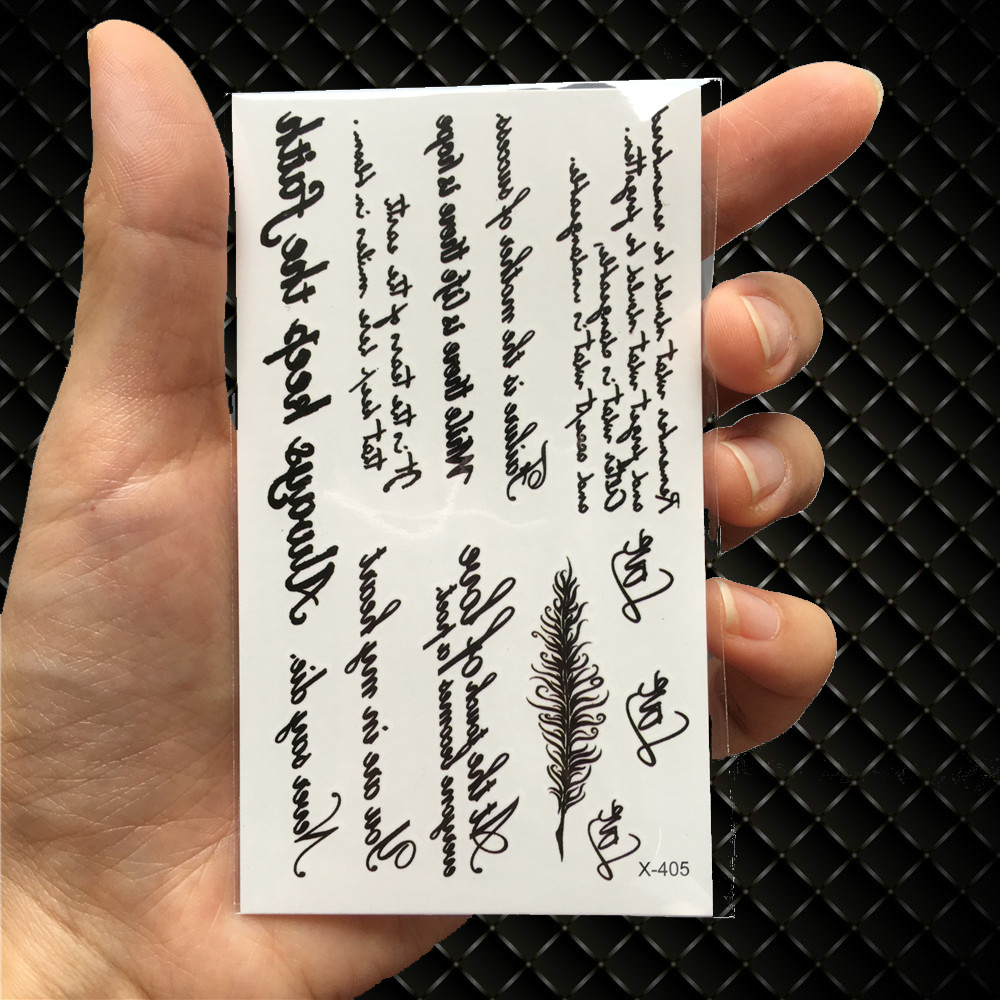 Tcool Wolf Temporary Tattoo Stickers Waterproof Women Fake