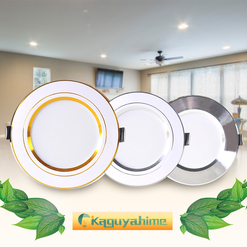 Downlight 3W 5W 9W 12W 15W 18W Spot led downlight AC 220V gold Silver White Ultra Thin Aluminum Round Recessed LED Spot Lighting image