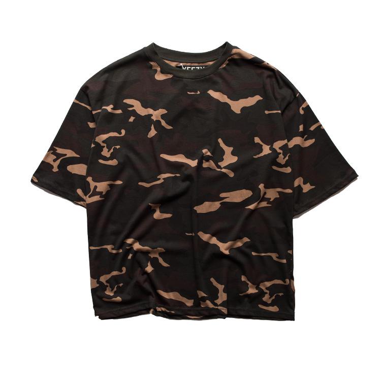 d828f7a90 YEEZY SEASON 1 Men T Shirt Kanye West High Quality Summer Hip Hop YEZZY Tee  Shirt Justin Bieber Military Camo rmy GD T shirts-in T-Shirts from Men's ...