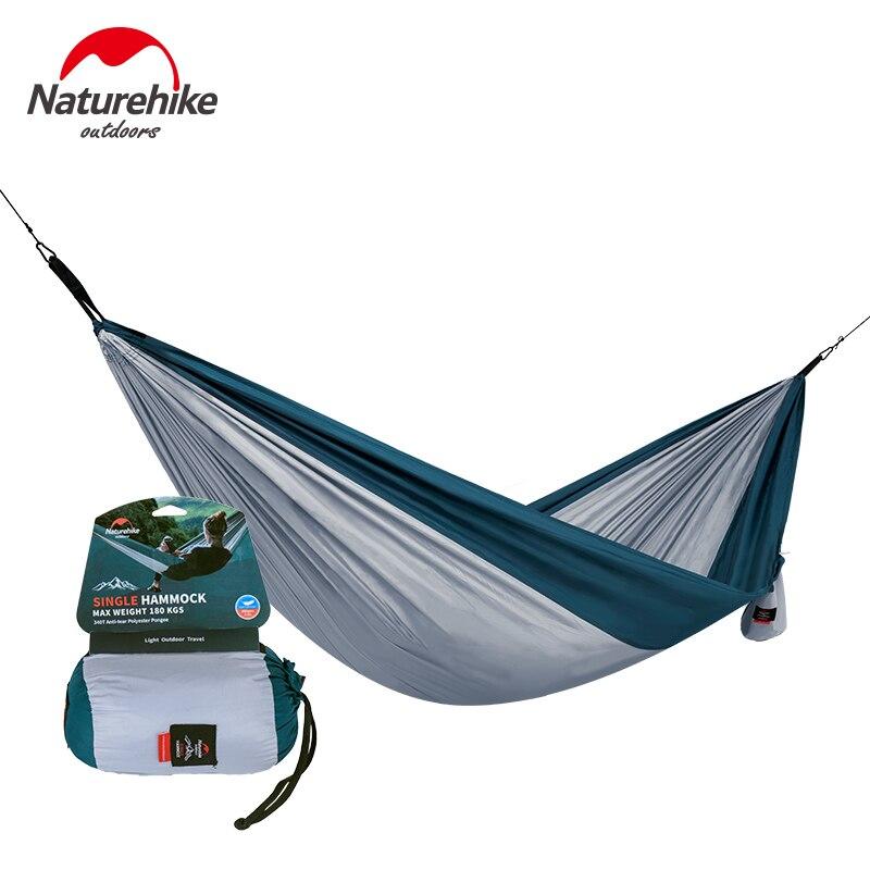 NatureHike Ao Ar Livre de Dobramento Portátil Duplo Camping Hammock Pessoa Hammock Parachute Hammock Da Corda Da Árvore Do Jardim do Quintal NH17D012 2