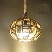 Retro industry American country Vintage wind rope chandelier bar door box deck net personality coffee restaurant lighting GY71