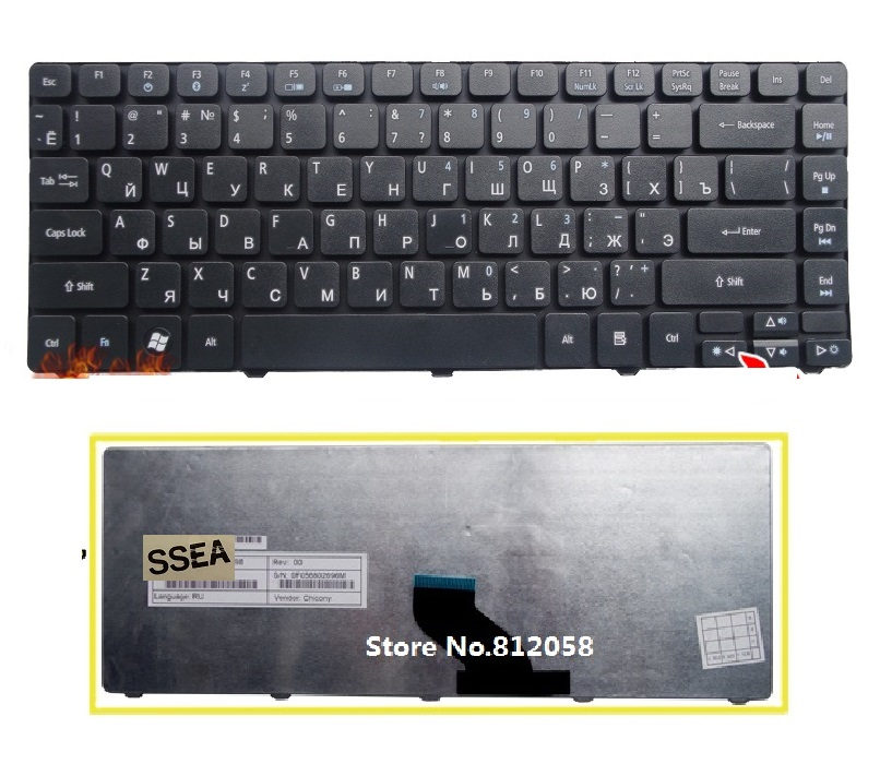 SSEA New RU Keyboard for <font><b>Acer</b></font> Aspire 3750 4750G 3810 <font><b>4736</b></font> 3820 4741 4755 4535 4540 4743G 5942 5942G laptop Russian Keyboard image