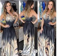 2017 yaz zarif serin lady elbise kaplan desen baskı patlamaları anlamak büyük kolye elbise elbiseler Brezilyalı toptan