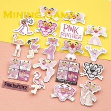 Cartoon Pink Panther Pin Brooch Badge Toy For Backpack Clothes Icons on Backpack Party Decoration Supplies Kid Gril Friends Gift(China)