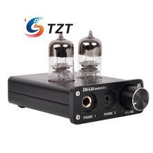 ZHILAI D1 HIFI Tubo Amplificador de Auriculares Preamplificador USB Chip de Amplificador de Potencia de Audio 7022 16bit/24bit