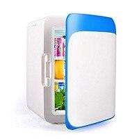 Car Mini refrigerator High Quality10L Blue White Auto Fridge 12V Car Refrigerator Small Dual use Car/Home Cooler Box Freezer