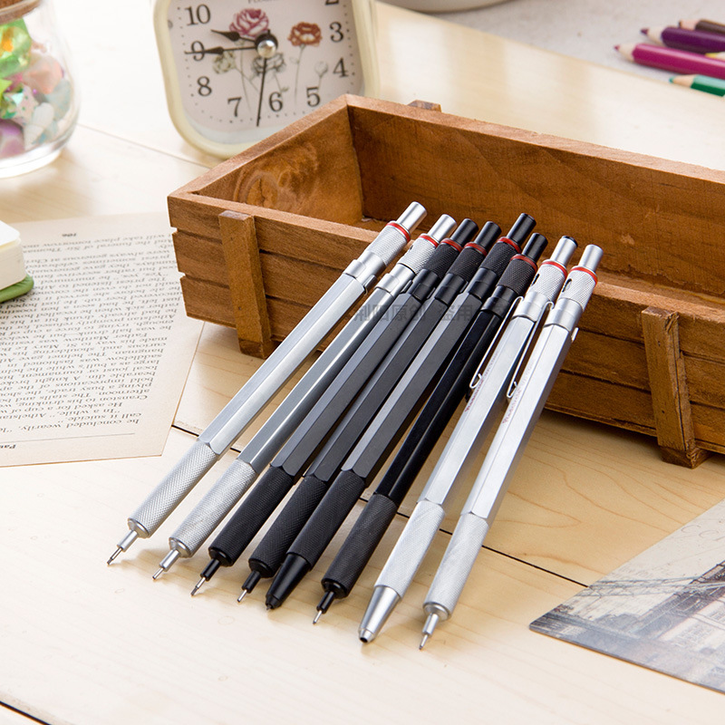 High Quality 0.5/0.7/0.9/2mm rotring Mechanical Automatic Pencil RedCircle Drafting Metal Pencil for professional Drawing Comic rotring rapid pro metal mechanical pencil