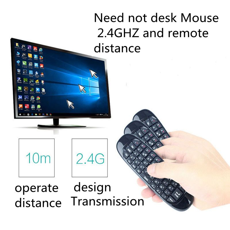 2.4G wireless remote control mouse and keyboard set one mini air flying squirrel mouse computer TV