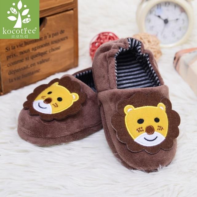 07e092e3c13 Kids Slippers Winter Warm Children Shoes Girls Toddler Cartoon Bunny Lion  Sole Casual Home Wear Sweet