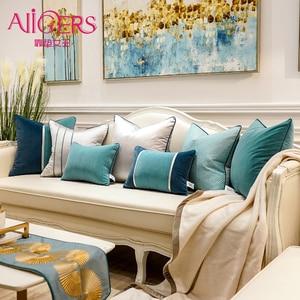 Avigers Luxury Modern European Velvet Patchwork Decorative Pillows Square Cushion Covers for Sofa Car Living Room Bedroom