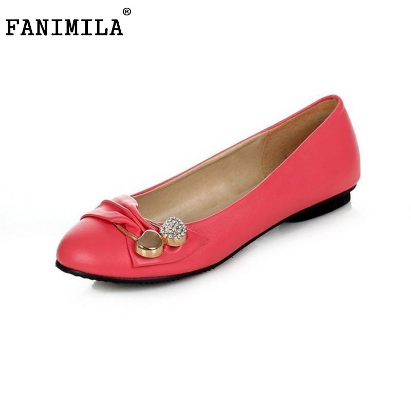 FANIMILA size 31-47 ladies leisure casual flats shoes lace bowtie spring lady loafers women brand footwear shoes size P11882 посуда tramp trc 038 чайник