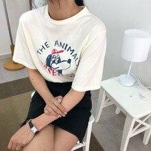 T-shirt Femme Style Womens Tshirt  Ulzzang Cute Puppy Printed Short Sleeve T-shirts Women Harajuku White Shirt Summer