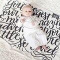 Bebé recién nacido Manta de Lana Negro Blanco Cruz Conejo Niños Cobertores de Cama Sofá Colcha Mantas Toallas de Baño Del Bebé Swaddle LT01