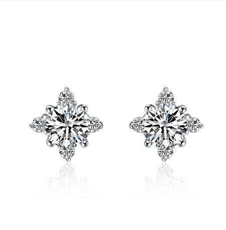 0 6ct Piece Best Ing Square Stud 925 Lovely Sona Simulate Diamond Earrings Genuine
