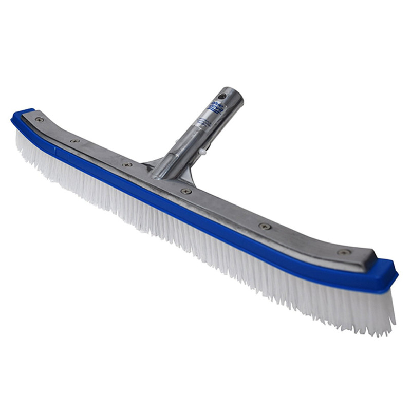 18 Inch Wall Brush Kitchen Bathroom Floor Brush Premium Pool Cleaning Brush  Aluminum Back Washing Brush with Nylon Bristles d662b420d4da