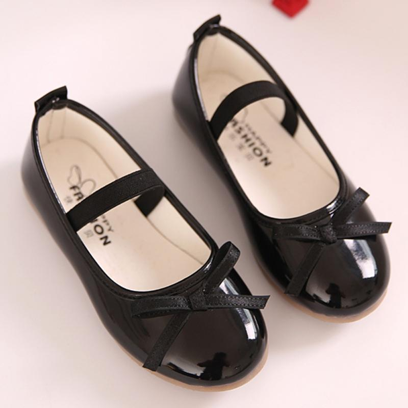 New Summer Autumn Children Shoes Girls Sandals Bow Princess Leather Shoes Girls Casual Shoes Dance Shoes Sweet Princess Shoes